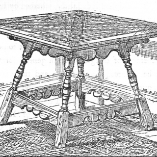 an occasional table designed by Charles Eastlake.