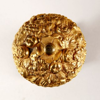 A Russian Empire period gilt bronze inkwell