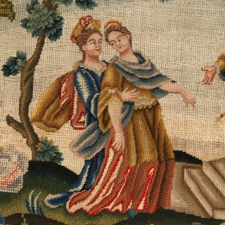 Esther before Ahasuerus in St Cyr needlework