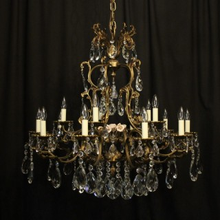 Italian Gilded 15 Light Antique Chandelier
