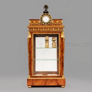 An Amboyna Wood Empire Style Vitrine Cabinet