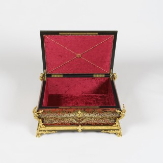 A Large Casket of the Napoleon III Period in the 'Boulle' Manner