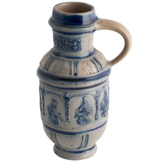 German Pottery Blue And Grey C. 1600