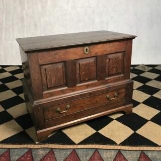 Welsh Oak Coffer 19th Century