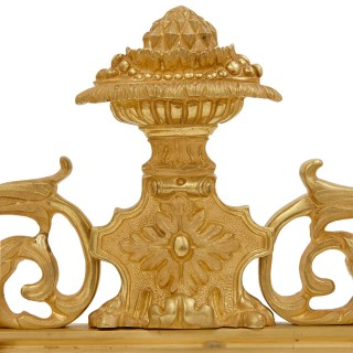 Empire style gilt bronze and mirror surtout de table centrepiece