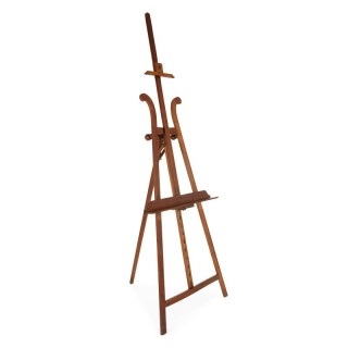 French walnut tripod design art easel