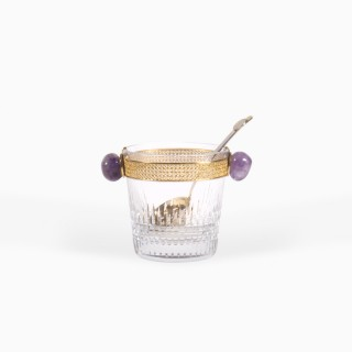 Baccarat Nancy Ice Bucket with Gold Ladle