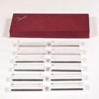 Baccarat Set of Twelve Baccarat Vega Crystal Knife Rests