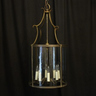 English Bronze 8 Light Antique Convex Lantern