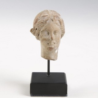 Hellenistic Terracotta Head of a Women