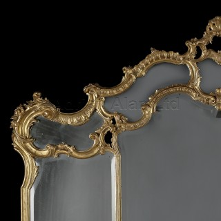 A Decorative Carved Giltwood Overmantel Mirror