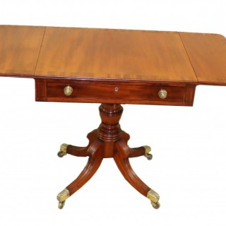 Georgian Mahogany English Antique 18th Century Pembroke Table