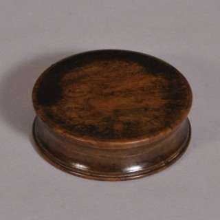 Antique Treen 19th Century Burr Elm Pocket Snuff Box