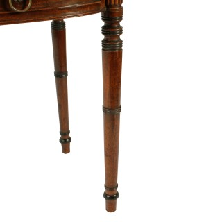 Georgian Barrel Fronted Side Table