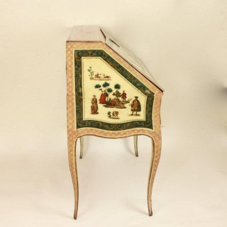 Italian Mid-18th Century Lacca Povera Desk or Bureau