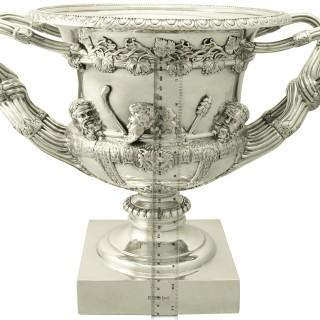 Sterling Silver Warwick Vase - Antique Edwardian (1908)