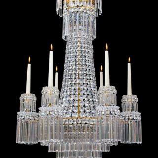 A FINE REGENCY SIX LIGHT CHANDELIER BY JOHN BLADES