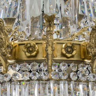 A SUPERP QUALITY WILLIAM IV CHANDELIER OF EXCEPTIONAL SIZE