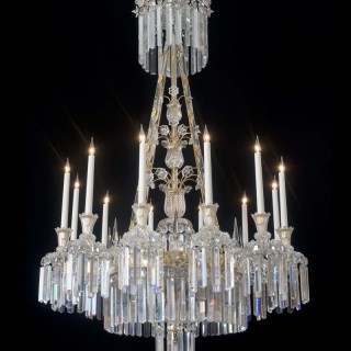 A HIGHLY IMPORTANT EXTREMELY RARE ENGLISH WILLIAM IV ANTIQUE CHANDELIER