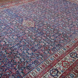 Antique Farahan carpet, Kelleh size, Persian