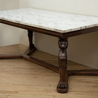 LARGE MID NINETEENTH CENTURY CONTINENTAL CENTRE TABLE