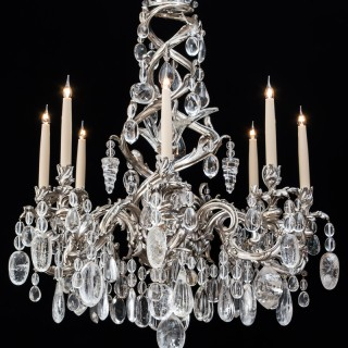 A HIGHLY IMPORTANT ROCK CRYSTAL CHANDERLIER IN LOUIS XV MANNER