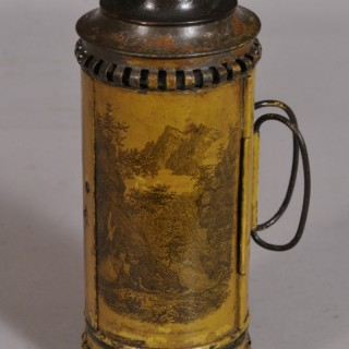 Antique 19th Century Tin Toleware Travelling Candle Lantern