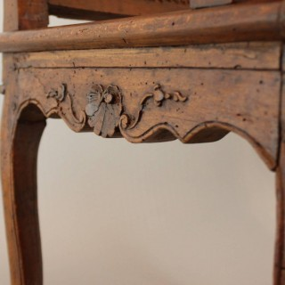 18th Century Regence Carved and Caned Armchair or Fauteuil