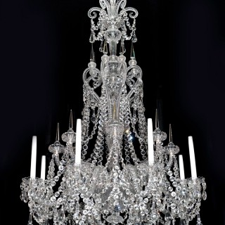 A FINE QUALITY EIGHT LIGHT MID-VICTORIAN CUT-GLASS ANTIQUE CHANDELIER BY F&C OSLER