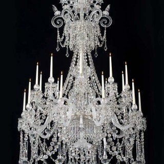 AN EXTREMELY RARE ENGLISH EARLY VICTORIAN CHANDELIER OF EXCEPTIONAL QUALITY AND SIZE MADE BY F&C OSLER