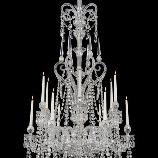 AN FINE TWELVE LIGHT CUT GLASS CHANDELIERS BY F&C OSLER