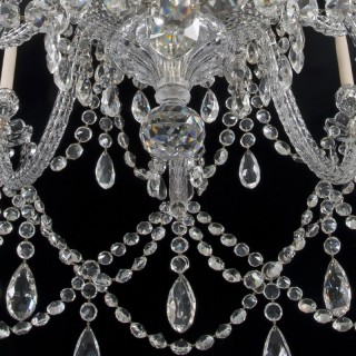 AN IMPORTANT TWENTY-LIGHT CUT GLASS CHANDELIER BY F&C OSLER