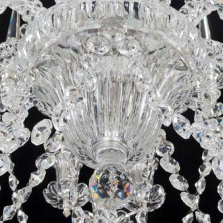 AN UNUSUAL FIFTEEN LIGHT CUT GLASS ANTIQUE CHANDELIER BY F&C OSLER