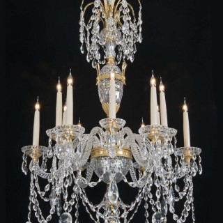 A 20TH CENTURY CHANDELIER IN THE STLYE OF PERRY & CO