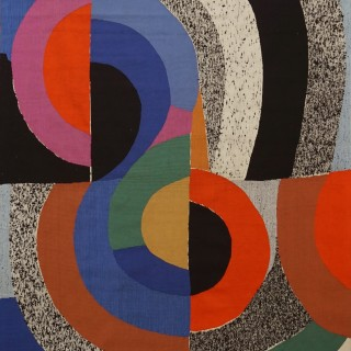 Modern Tapestry Designed by Sonia Delaunay, Woven by Pierre Daquin
