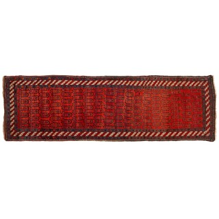 Persian red wool carpet hall runner