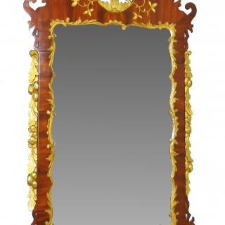 18th Century Georgian English Mahogany And Gilt Mirror