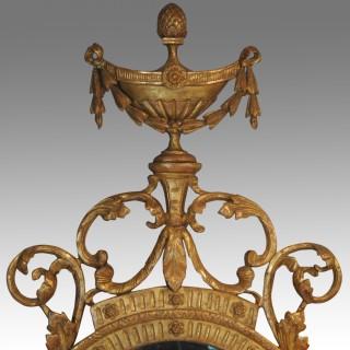 late 18th century oval gilt mirror