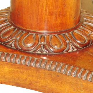 19th Century Regency Mahogany Drum Type Centre Table