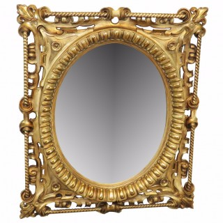 19th Century English Giltwood Wall Mirror
