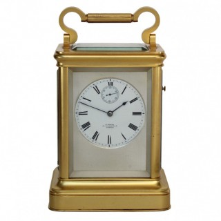 English Fusee striking Carriage Clock by E.White