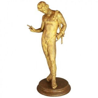 19th Century Gilt-Bronze Sculpture of Dionysus Narcissus