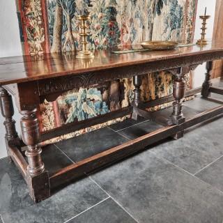 Charles I oak six leg table