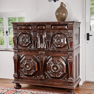 Charles II enclosed chest of drawers