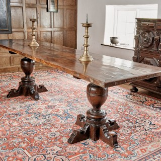 Rare James I oak testle table