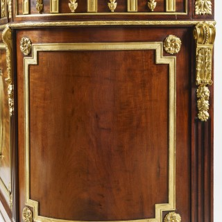 Ormolu and Wedgwood Mounted Mahogany Commode Attributed to Julius Zwiener