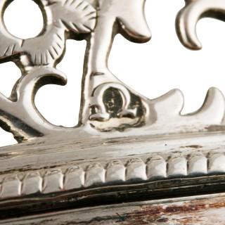 Pair of George III Sterling Silver Wine Coasters