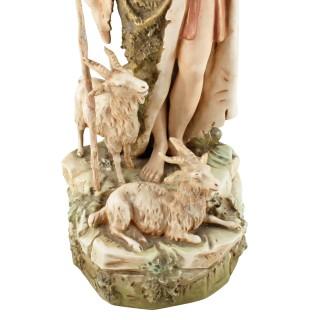 Royal Dux Porcelain Goat Herder