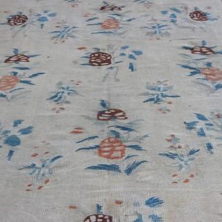 Pale antique Bessarabian kilim