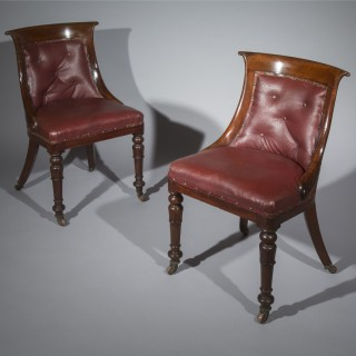 Set of Eight Regency Gondola Dining Chairs